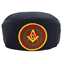 Master Mason Skull Cap red patch
