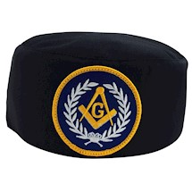 Master Mason Skull Cap blue patch