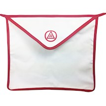 R.A.M. Red Trim Cloth Apron 13 x 15 inches- Set of 12