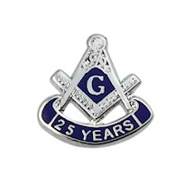 Masonic 25 Year Lapel Button