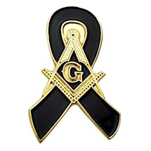Masonic Mourning Lapel Button