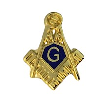 Masonic Lapel Button in gold tone