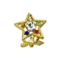 OES Angel Star Lapel Pin - 5 color stones
