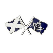 Masonic Crossed Flag Pin