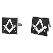 Square Masonic cuff links