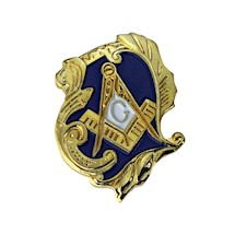 Masonic Lapel Button w/ Swirl Design