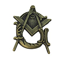 Masonic Lapel Pin S&C&G All Seeing Eye