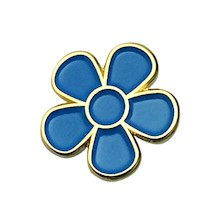 Blue Forget Me Not Flower Lapel Pin