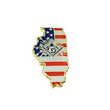 Illinois State Square & Compass Pin