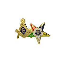 Masonic/OES pin with enamel color
