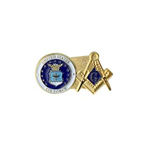 US Air Force & Masonic Lapel Pin