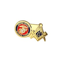 Marines & Masonic Lapel Pin