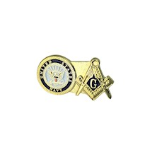 US Navy & Masonic Lapel Pin