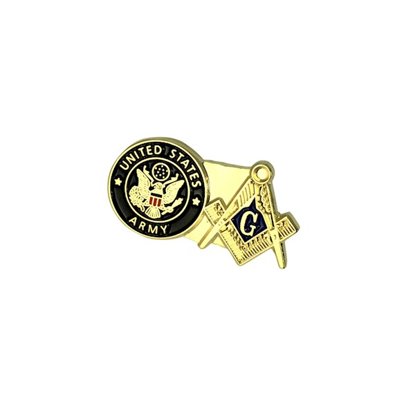 US Military & Masonic Lapel Pin