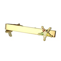 Eastern Star Tie bar in gold tone