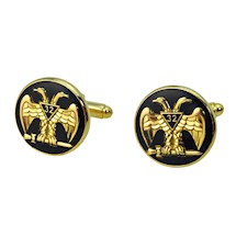 Scottish Rite 32 Wings Down Cuff links