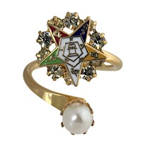 OES Ring with Pearl