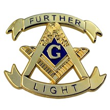 Masonic Further Light Lapel Pin