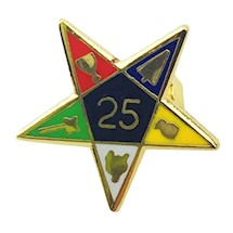 OES 25 year service pin