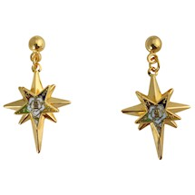 Eastern Star starburst pierced earrings