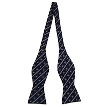 Silk Woven diagonal stripe Masonic Premium Bow Tie