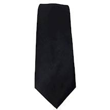 Loom Woven Masonic Polyester Tie - Black(Tone on Tone)