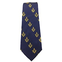 Masonic Navy blue tie with diagonal lines