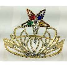 Beautiful O.E.S. Adjustable Crown Goldtone