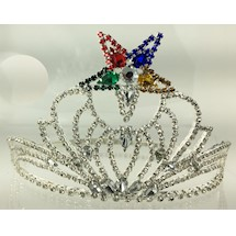 Beautiful O.E.S. Adjustable Crown Silver tone