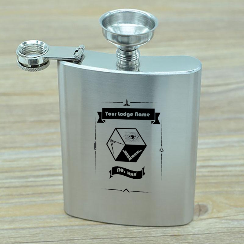 PM & Lodge Hip Flask