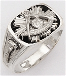 Past Master ring - 10012 - Sterling Silver