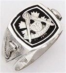Past Master ring - 10013 - Sterling Silver