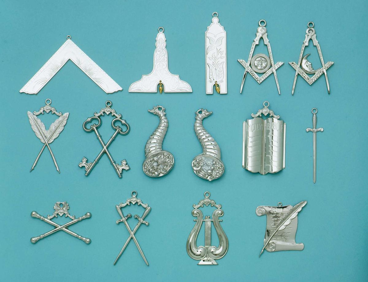 Masonic Blue Lodge Officer Silver Jewels Set Masonic Jewels Blue Lodge Jewels