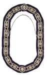 Past Master Silver chain collar with royal blue lining