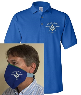 Masonic Face Covering and matching Lodge Shirt