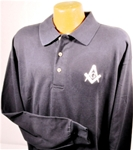 Long Sleeve Masonic Blue Lodge Pique Polo Golf Shirt