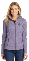 Ladies Digi Stripe Fleece Jacket with emblem