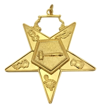 O.E.S. Officer Jewels Heavy Gold Plate - Individual Jewels