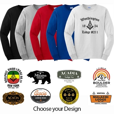 Masonic Long Sleeve Lodge Shirt