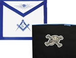Masonic Apron with Skull & Crossbones - Leather