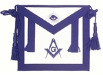 Masonic Apron - Master Mason Dress Royal Blue Apron with Side tabs