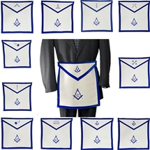 Texas Masonic Officer Apron Set - Regulation