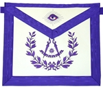 Past Master Purple Apron Emblem with Wreath