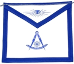 Masonic Past Master Apron  Royal Blue
