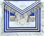 Past Master Masonic Apron with Non-Tarnish Embroidery and Fringe