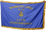 Embroidered Masonic Blue Satin Flag