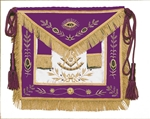 Masonic Grand Officer Apron with Gold Metallic Non-Tarnish embroidery