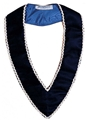 Royal Blue Velvet Collar with Silver trim