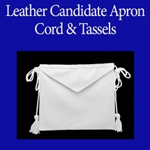 Masonic Candidate aprons - Tape Ties