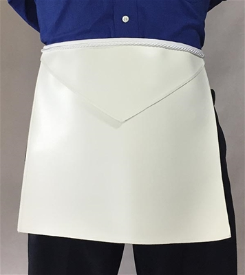 Masonic Candidate apron with Rayon Cord & Tassel - Individual Lamtex 13 x 15 inches